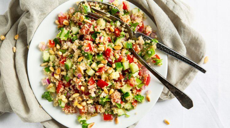 ensalada de quinoa vegana